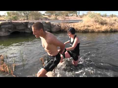 Hobie and Irene Call tethered in 2012 Arizona Spartan Race