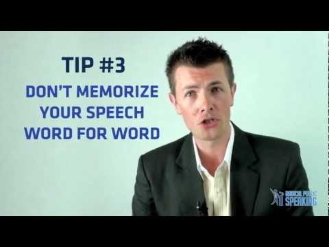 Public Speaking & Presentation Tips- How To Memorize A Speech