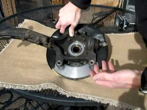 1995 Honda Accord Rotor and Wheel Bearing Replacement (Trapped Rotor)