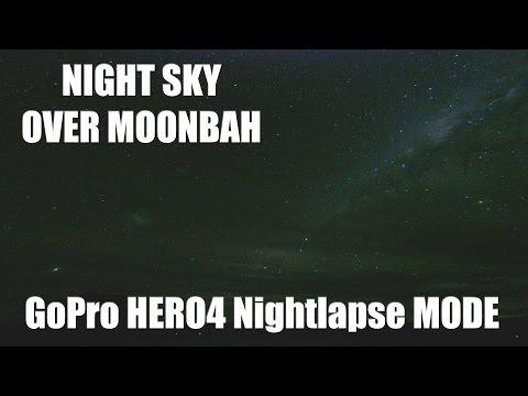 Night Sky over Moonbah - All Night Star Timelapse - GoPro HERO4 Nightlapse Mode