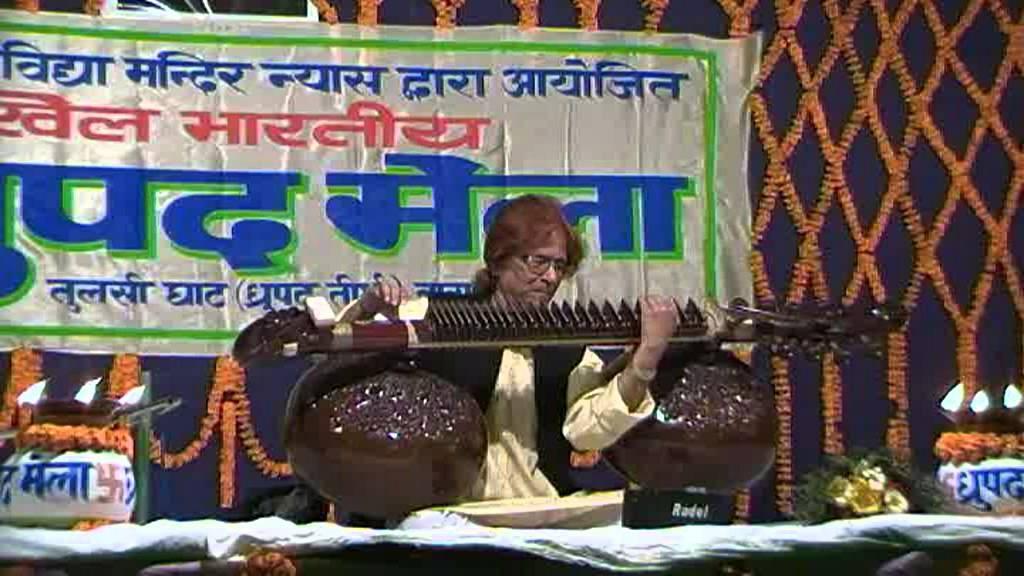Rudra Veena By Sri Asit Kumar Banerji at the 2012 Dhrupad Mela in Varanasi, North India 1