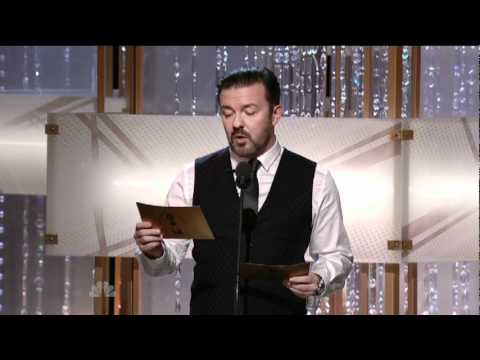 Golden Globes 2011 - Ricky Gervais Introduces Tom Hanks & Tim Allen