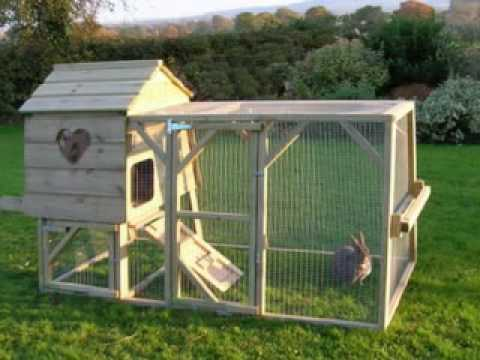 13 big rabbit hutches