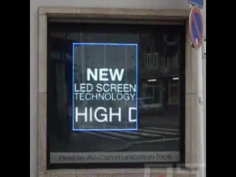 Introducing the LED Glass Wall; sure to change the way you view advertising.