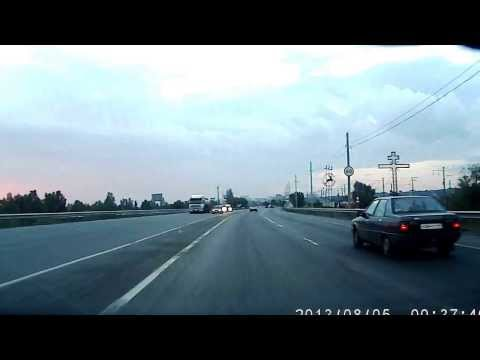 Авария на западном мосту Ростова на Дону (с 1:10)