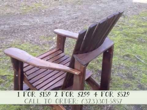 Chestnut Stained & Varnished Cedar Adirondack Chair