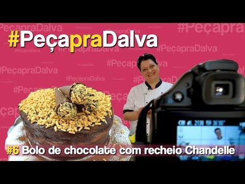 #PeçapraDalva #6 - Juliana Paula - Bolo de chocolate recheado com Chandelle