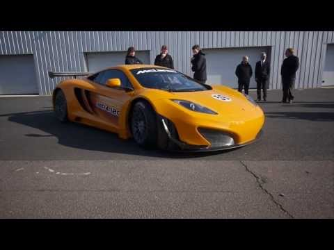 McLaren MP4-12C GT3 breaks cover in first tests