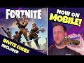 FORTNITE is now on MOBILE! First Look + INVITE CODES!