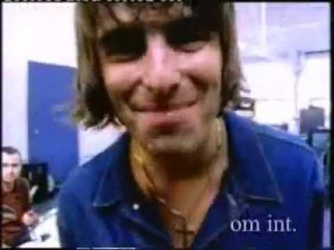 Oasis Noel and Liam Gallagher, Knebworth 1996 pre gig video