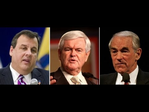 Republicans On Drugs - Christie & 2012 Presidential Candidates Ron Paul, Gingrich, Cain...
