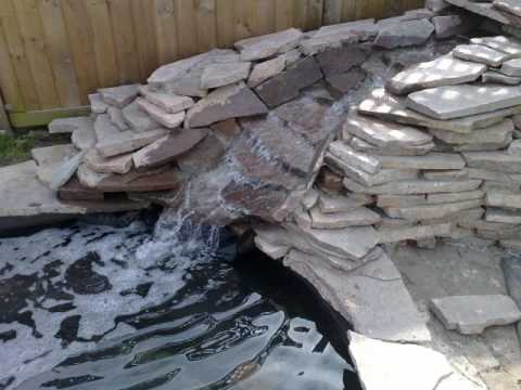 Bachlauf for Teichanlage selber bauen