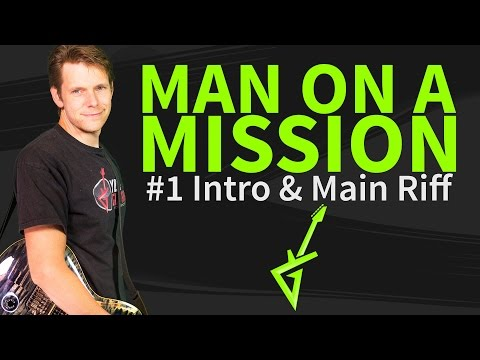 Guitar Lesson: Man on a mission - Van Halen - how to play intro and main riff