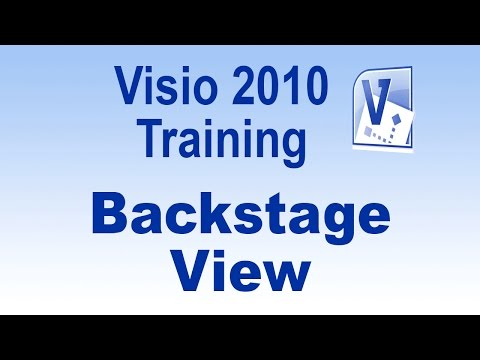 Microsoft Visio 2010 Training Tutorial -- Backstage View
