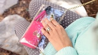 anneorshine – DIY Clear Crossbody Clutch – Cute Summer Trend