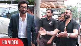 Sanju Baba And Ranbir Kapoor At Bhoomi Trailer Launch | Ranbir Kapoor To Promote Bhoomi