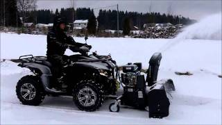 Test Of The Bercomac 48 Snowblower At Romskog Norway Youtube
