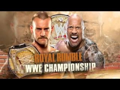 WWE Royal Rumble 2013 The Rock Vs CM Punk (WWE'13) HD