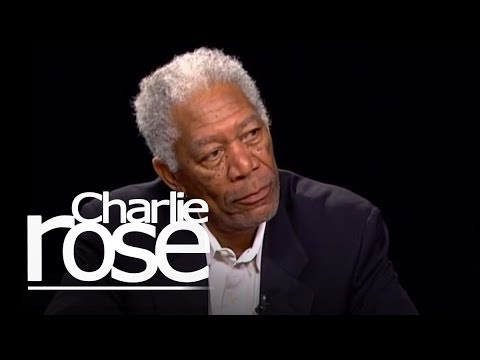 Morgan Freeman talks with Charlie R..