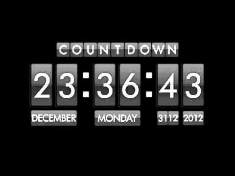 2013 Countdown clock 1 Hour with Effect last 5 and 1 Minute