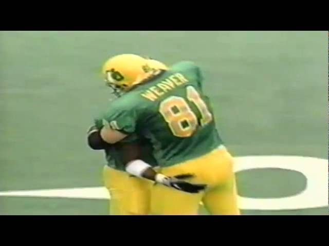 Oregon WR Damon Griffin makes a diving catch for a 30 yard gain vs. ASU 11-14-1998