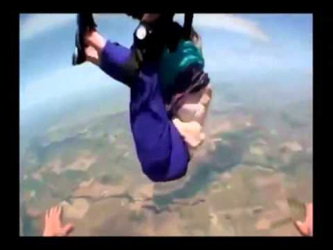 Skydiving Gone Bad - Grandma Falls Out of Tandem Harness -3LFkPzObIug