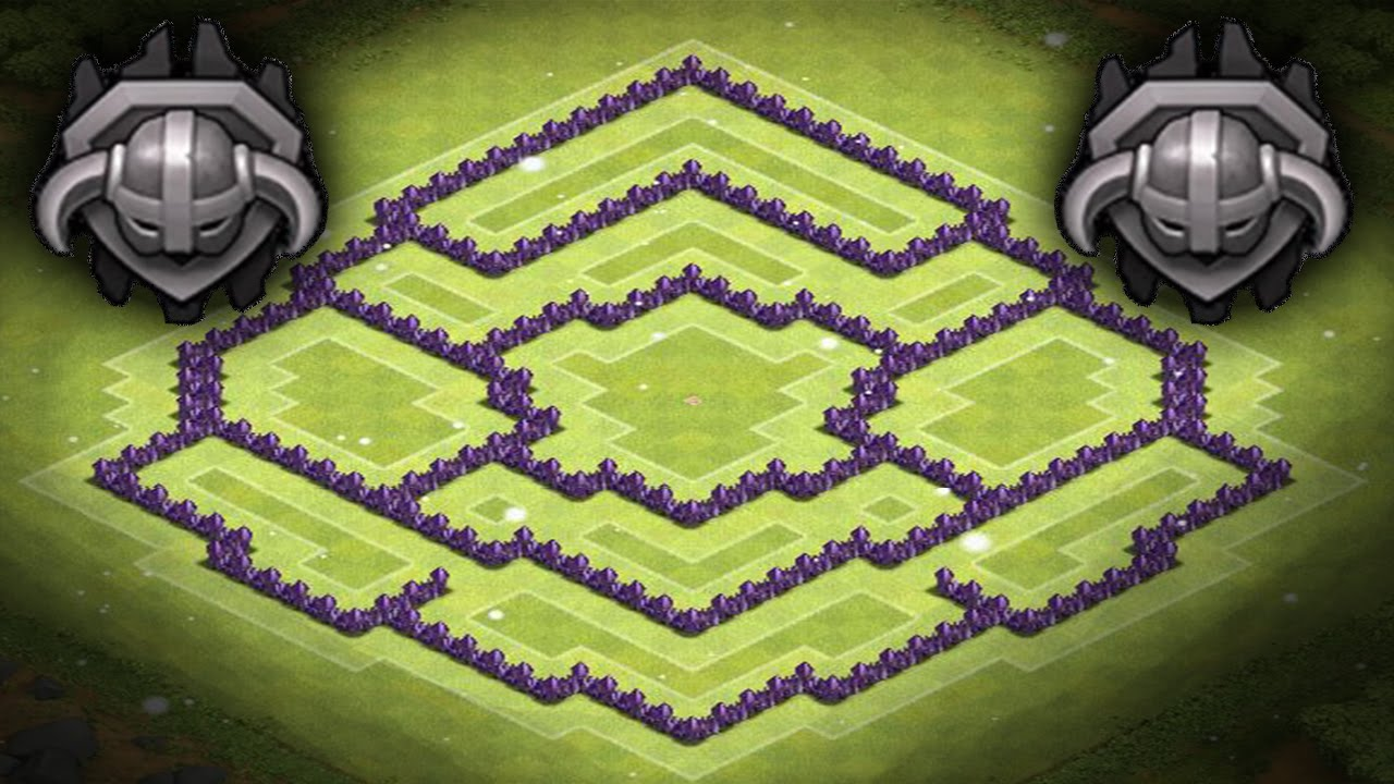 Clash of clans best th8 trophy base hybrid base centered cc