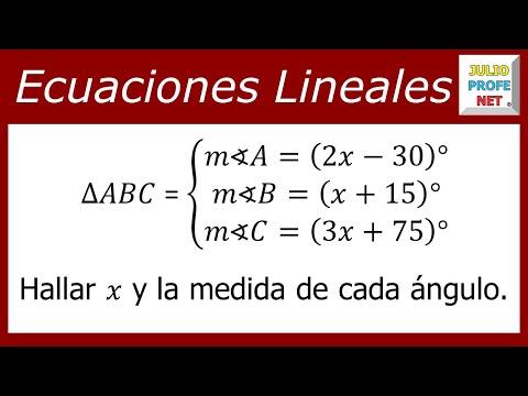 Ecuacion con los angulos de un triangulo