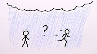 Is it Better to Walk or Run in the Rain?