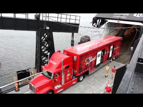 Budweiser Clydesdale Trucks Boarding S.S. Badger, August 13, 2012