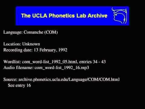 Comanche audio: com_word-list_1992_16