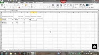 Tabla Inventario en Excel
