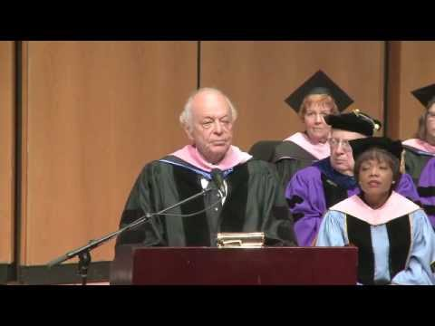 Lorin Maazel Delivering Convocation Address at Northwestern University