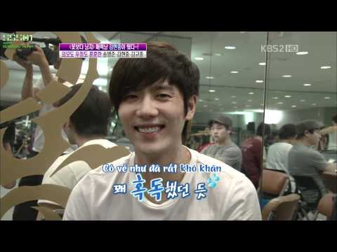 [Vietsub]110915 Kim Hyun Joong Visits Kyu Jong During His Musical GOONG Practice