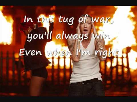 Rihanna Love The Way you Lie Part 2 ft Eminem Official Lyrics on screen [HQ]