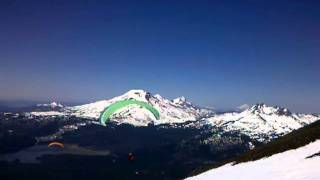 Mt Bachelor 4th of July (skiing & paragliding).3gp view on youtube.com tube online.