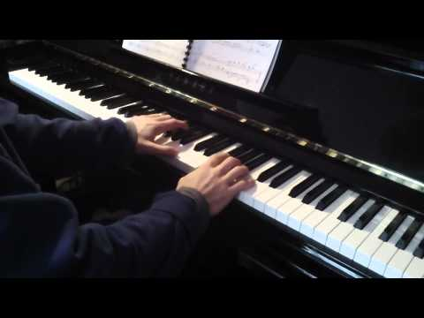 (13) 'Journey to the West' (Tabidachi Nishihe) from Princess Mononoke for Piano solo, Joe Hisaishi