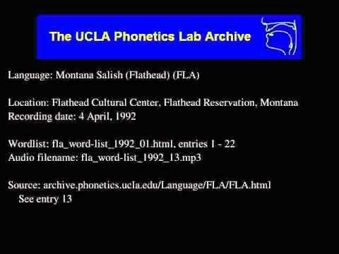 Flathead audio: fla_word-list_1992_13