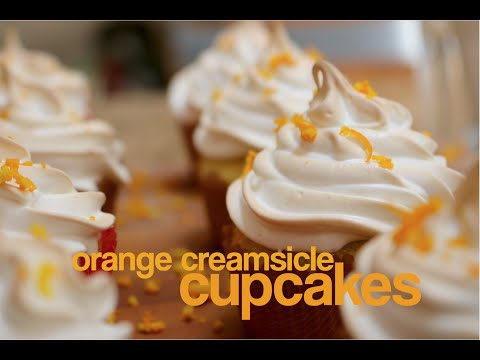 How to Make Orange Creamsicle Cupcakes | rachel republic