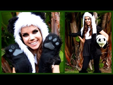 Cute & Cuddly Panda Look ♥ Makeup, Hair, and Costume!