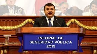 Informe de actividades SSPDF - Comparecencia Secretario de Seguridad Pública