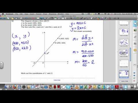 AQA Unit 2 Maths GCSE November 2011 Past Paper Solutions
