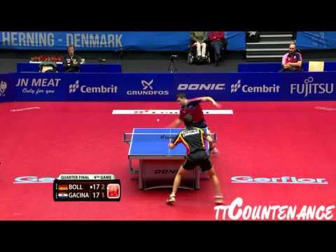 European Championships: Timo Boll-Andrej Gacina