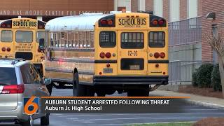 An Auburn Jr. High student was arrested after posting a threat to the school on social media. Savannah Key has the latest