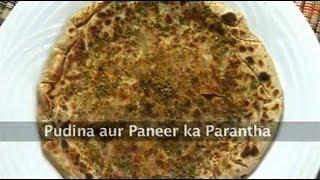 Pudina aur Paneer ka Paratha ..
