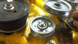 XLT1040 Cub Cadet deck repair Pt 2 - YouTube
