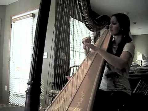 Fireflies by Owl City (Harp cover)