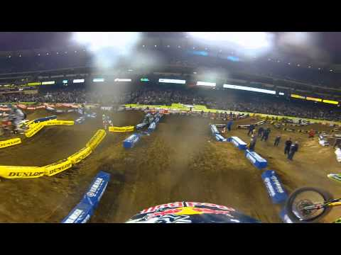 GoPro HD: James Stewart Anaheim 1 Main Event Race Monster Energy Supercross 2012