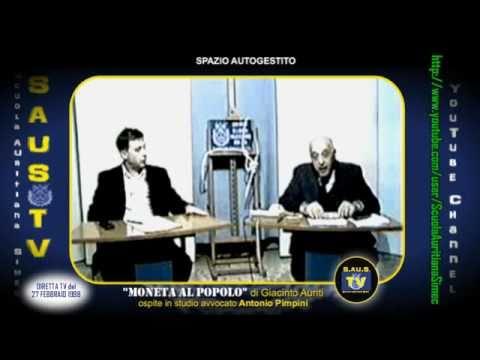 MAXI EVASIONE BANCA D'ITALIA smascherata in tribunale dal prof. Giacinto Auriti