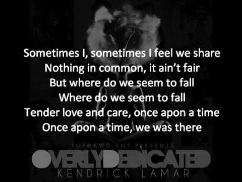 Kendrick Lamar - Opposites Attract (Tomorrow W/O Her) Featuring Javonte   ON-SCREEN LYRICS